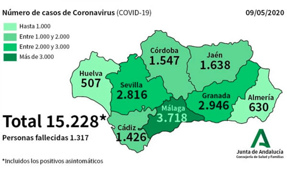 COVID-19 CRISIS: 445 patients with confirmed coronavirus in Spain's Andalucia remain in hospital with 102 of them in intensive care