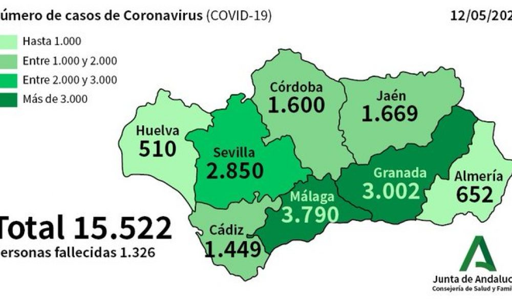 COVID-19 CRISIS: 395 patients with confirmed coronavirus still in hospital in Spain's Andalucia with almost a quarter of them in intensive care