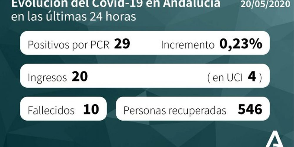 CORONAVIRUS: 246 patients confirmed with COVID-19 remain admitted to Andalucian hospitals with 53 in intensive care