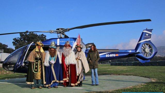 THREE KINGS: Depart by helicopter from Ascari Race Resort, Ronda