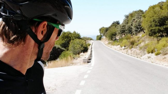 Andalucian Cycling Experience guide Andrew (Drew) Cane rides the Serranía de Ronda