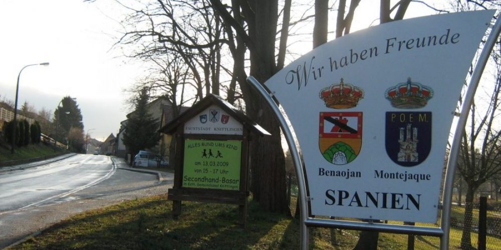 Knittlingen in Germany, twinned with Spain's Montejaque and Benaoján