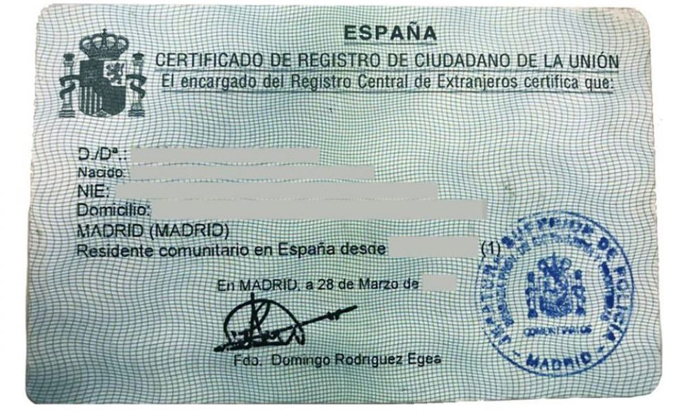 British Embassy in Madrid offers advice to UK nationals living  in Spain about new residency system arrangements