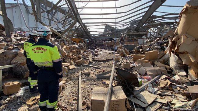 Bomberos de Málaga participan en las labores de rescate y localización de supervivientes en Beirut