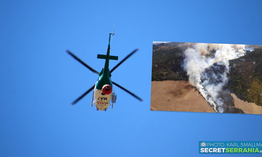 VIDEO: Twelve aircraft help stabilise large wildfire just inland from Spain's Costa del Sol